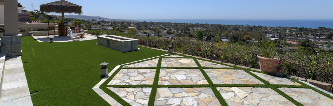 residential artificial grass landscaping