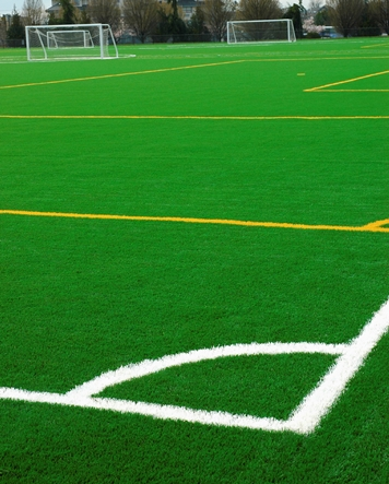 synthetic grass soccer field